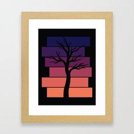 Tree Silhouette (Sunset) Framed Art Print