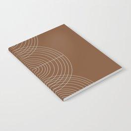 Burnt Orange, Geometric shape Notebook
