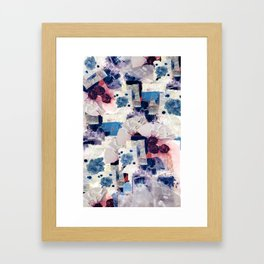 patchy collage Framed Art Print