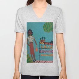 fruit shopping Unisex V-Neck