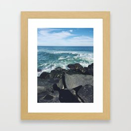 Jersey Shore Jetty Framed Art Print