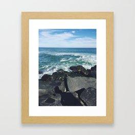 Jersey Shore Jetty Framed Art Print