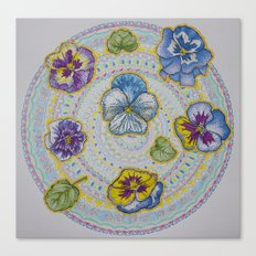 Pansy Mandala Canvas Print