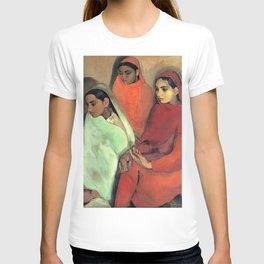 12,000pixel-500dpi - Amrita Sher-Gil - Group of Three Girls - Digital Remastered Edition T-shirt
