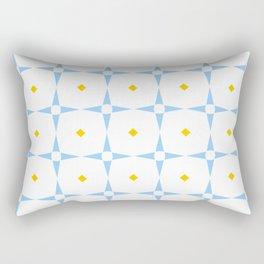 stars 98- blue and orange Rectangular Pillow