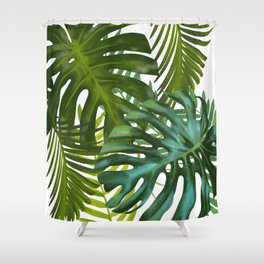 Palm and Monstra Shower Curtain