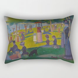 A Sunday Afternoon on the Island of La Grande Jatte Painting by Georges Seurat Pointillism Rectangular Pillow