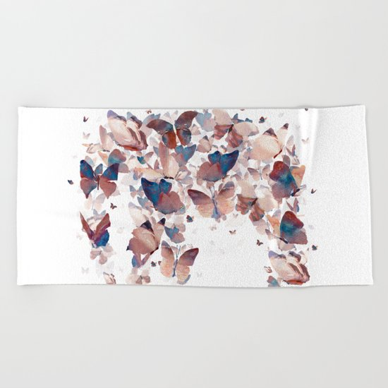 Butterfly Assemblage Beach Towel