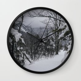 Winter in the Whites Wall Clock