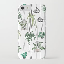 hanging pots pattern iPhone Case