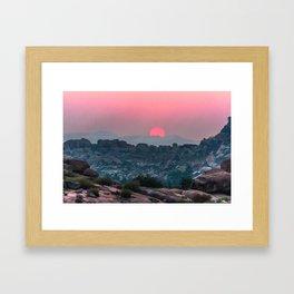 Otherworldly sunrise of Hampi, India Framed Art Print