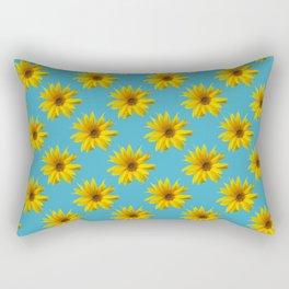 Sunflower - fall flower photograph Rectangular Pillow