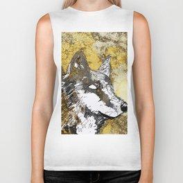 Gray Wolf Art Biker Tank