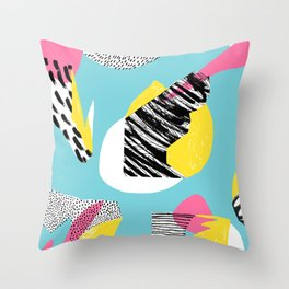 Modern living with lagoon view Throw Pillow