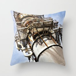 Gas scrubber used for blasting furnace Throw Pillow