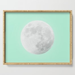 WHITE MOON + TEAL SKY Serving Tray