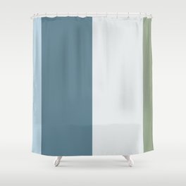 Parable to Behr Blueprint Color of the Year and Accent Colors Vertical Stripes 5 Shower Curtain