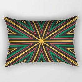 Barcode Sunburst Square (Rasta Colours) Rectangular Pillow