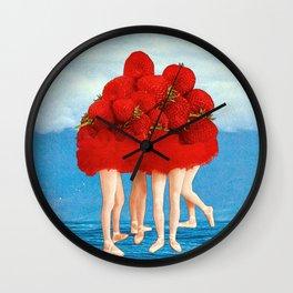 Strawberries dancers of the Sea Wall Clock
