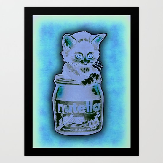 Kitten Loves Nutella Art Print