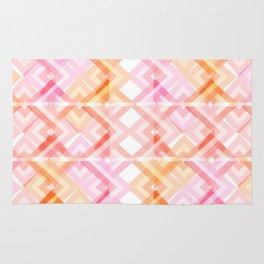 Pink/Orange Pattern Rug