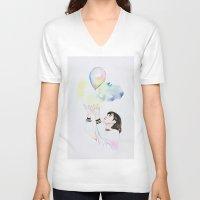 ballon V-neck T-shirts featuring Ballon by eteru
