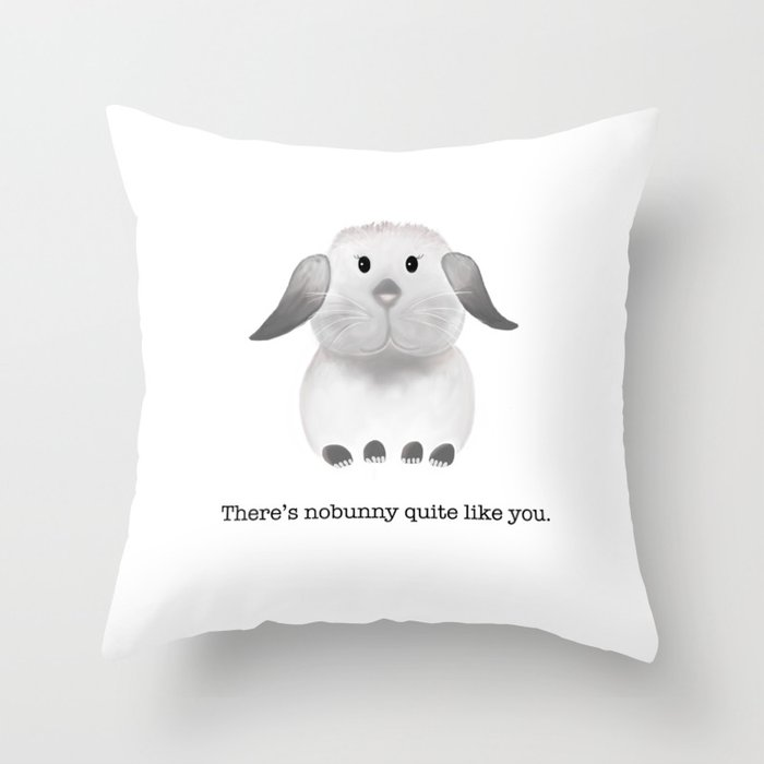 One Of A Kind Throw Pillow By Whatpeggydoes
