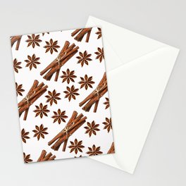 Cinnamon sticks and star anise. Stationery Cards