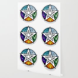 Bright Pentagram Wallpaper