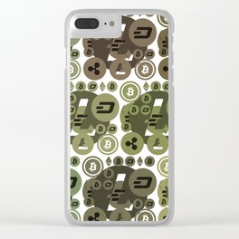 Ethereum, Bitcoin, Dash, Ripple, Litcoin Clear iPhone Case