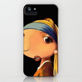 Girl with a Pearl Earring iPhone Case