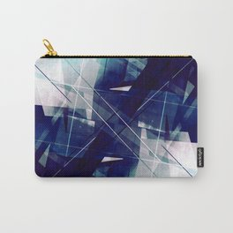 Shades of Blue - Geometric Abstract Art Carry-All Pouch