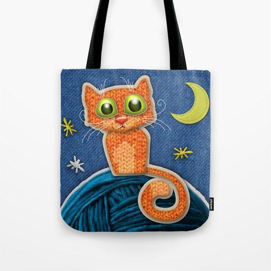Fabric Cat Tote Bag