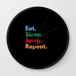 Eat. Sleep. Jump. Repeat. Wall Clock