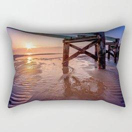 Biloxi Beach Low Tide Sunrise Rectangular Pillow