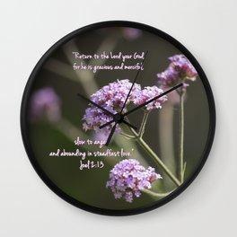 March 1 - Joel 2:13 Wall Clock