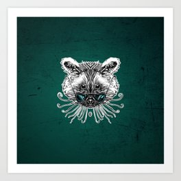Cool Raccoon Art Print