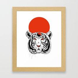 YIN YANG TIGER Framed Art Print