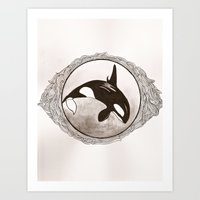 killer whale Art Prints featuring Killer Whale by AbigailMarian
