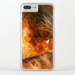 Citrine Quartz Clear iPhone Case