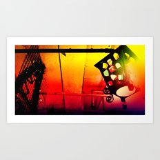 a light with GEM  Art Print