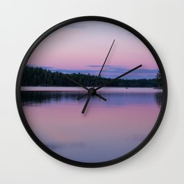 Sunset on Little Loon Wall Clock