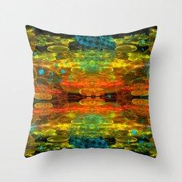 When Worlds Explode Throw Pillow