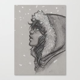Ash and Snow Canvas Print