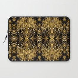 Beautiful Gold Brown  Traditional Pattern Laptop Sleeve