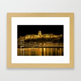 Budapest Golden Night Framed Art Print