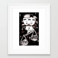 libra Framed Art Prints featuring libra by Kaitlyn Wright