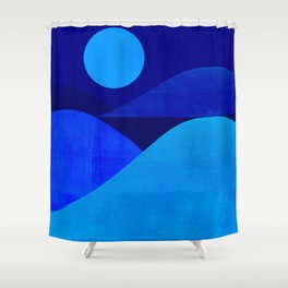 Abstraction_Moonlight Shower Curtain