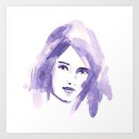 Aquarelle Beauty Art Print