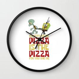 Krusty Krab Pizza Wall Clock